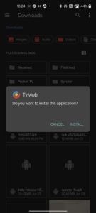 tvmob for android