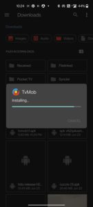 tvmob on android