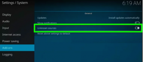 enable unknown sources on smart tv