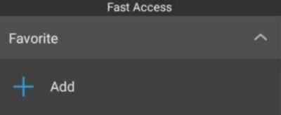 favorites on es file manager